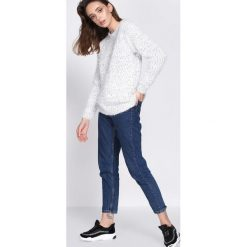 Swetry klasyczne damskie: Biały Sweter Culture