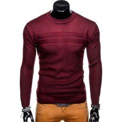 SWETER MĘSKI E130 - BORDOWY. Zielone swetry klasyczne męskie marki Ombre Clothing, na zimę, m, z bawełny, z kapturem. Za 49,00 zł.