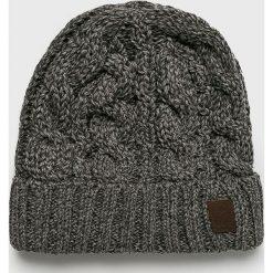 Barts - Czapka. Szare czapki zimowe męskie marki Barts, na zimę, z dzianiny. W wyprzedaży za 99,90 zł.