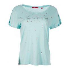 S.Oliver T-Shirt Damski 34 Turkusowy. Niebieskie t-shirty damskie S.Oliver, s, z nadrukiem, z materiału. W wyprzedaży za 89,00 zł.