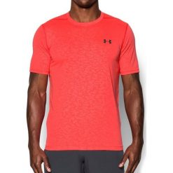 Koszulki sportowe męskie: Under Armour Koszulka męska Threadborne Emboss T-Shirt Coral Red r. M (1289596963)