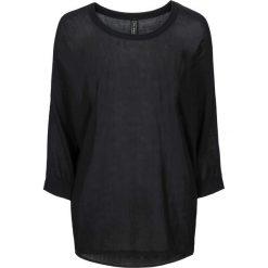 Swetry oversize damskie: Sweter, dzianina o gładkim splocie drobnych oczek bonprix czarny