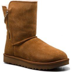 Buty UGG - W Classic Sparkle Zip 1094983 W/Che. Szare buty zimowe damskie marki Ugg, z materiału, z okrągłym noskiem. Za 919,00 zł.