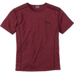 T-shirty męskie: T-shirt funkcyjny Slim Fit bonprix ciemnoczerwony