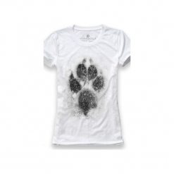 Koszulka UNDERWORLD Ring spun cotton Łapa. Białe t-shirty damskie Underworld, m, z nadrukiem, z bawełny. Za 59,99 zł.