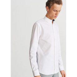 Bawełniana koszula slim fit - Biały. Białe koszule męskie slim marki Reserved, l. Za 69,99 zł.