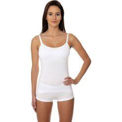 Bluzki asymetryczne: Brubeck Koszulka damska Camisole COMFORT COTTON biała r. S (CM00210A)