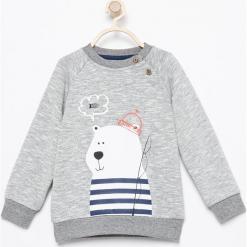 Bluza z nadrukiem - Jasny szar. Białe bluzy niemowlęce marki FOUGANZA, z bawełny. Za 49,99 zł.