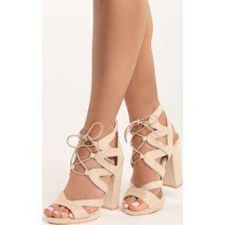 Rzymianki damskie: Beżowe Sandały No Control