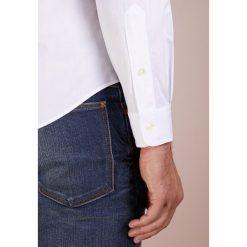 Polo Ralph Lauren NATURAL SLIM FIT Koszula white. Szare koszule męskie slim marki Polo Ralph Lauren, l, z bawełny, button down, z długim rękawem. Za 419,00 zł.
