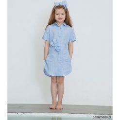 Sukienki dziewczęce z falbanami: Sukienka koszulowa z paskiem