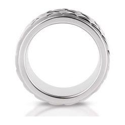 PROMOCJA Srebrny Pierścionek - srebro 925. Szare sygnety męskie marki W.KRUK, srebrne. W wyprzedaży za 149,00 zł.