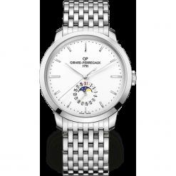 ZEGAREK GIRARD PERREGAUX 1966 AUTOMATIC DATE AND MOON PHASES 49545-. Białe zegarki męskie GIRARD-PERREGAUX, srebrne. Za 42990,00 zł.