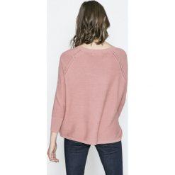 Vero Moda - Sweter Anna. Niebieskie swetry klasyczne damskie marki Vero Moda, z bawełny. W wyprzedaży za 49,90 zł.