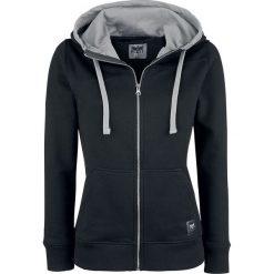 Bluzy rozpinane damskie: Black Premium by EMP Freaking Out Loud Bluza z kapturem rozpinana damska czarny