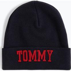 Tommy Jeans - Czapka damska, niebieski. Niebieskie czapki damskie Tommy Jeans, z haftami, z jeansu. Za 179,95 zł.