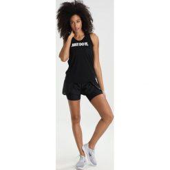 Nike Performance TANK ELASTIKA  Koszulka sportowa black/white. Czarne t-shirty damskie Nike Performance, xl, z lyocellu. Za 149,00 zł.