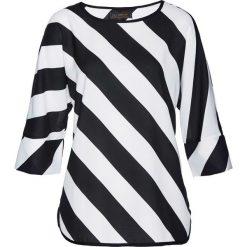 Bluzka bonprix biało-czarny w paski. Białe bluzki asymetryczne bonprix, w paski. Za 89,99 zł.