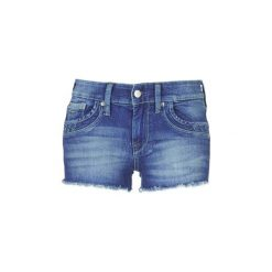 Szorty i Bermudy  Pepe jeans  RIPPLE SHORT. Niebieskie bermudy damskie marki Pepe Jeans, z jeansu. Za 181,30 zł.