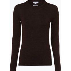 Brookshire - Damski sweter z wełny merino, brązowy. Czarne swetry klasyczne damskie marki brookshire, m, w paski, z dżerseju. Za 179,95 zł.