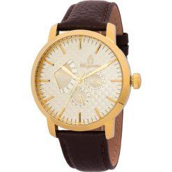 """Zegarki męskie: Zegarek """"Adelaide"""" w kolorze brązowo-złoto-kremowym"""