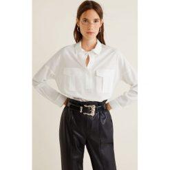 Mango - Koszula Carbon. Szare koszule damskie Mango, l, z lyocellu, klasyczne, z klasycznym kołnierzykiem, z długim rękawem. Za 139,90 zł.