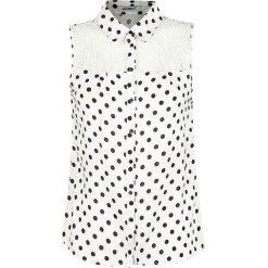 Hailys Mandy Koszulka damska biały. Czarne bluzki ażurowe marki bonprix, z koronki. Za 42,90 zł.