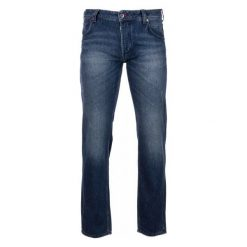 Mustang Jeansy Męskie Michigan 32/32 Niebieski. Czarne jeansy męskie marki Mustang, l, z bawełny, z kapturem. W wyprzedaży za 249,00 zł.