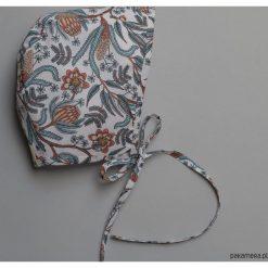 Czapeczka bonnetka paisley. Szare czapeczki niemowlęce marki Pakamera, paisley, z bawełny. Za 79,00 zł.