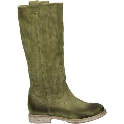 Kozaki - 10549 CRO VER. Zielone buty zimowe damskie Venezia, ze skóry. Za 349,00 zł.