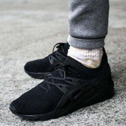 """Buty Asics Gel-Kayano Trainer Knit """"Black"""" (H705N-9090). Czarne halówki męskie marki Asics, z materiału, asics gel kayano. Za 279,99 zł."""