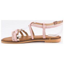 Rzymianki damskie: Płaskie sandałki na sprzączkę BELLO STAR różowe