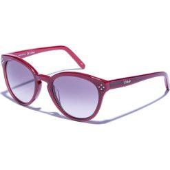 Okulary przeciwsłoneczne damskie aviatory: Dziecięce okulary przeciwsłoneczne w kolorze bordowo-fioletowym