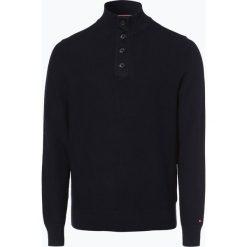 Tommy Hilfiger - Sweter męski, niebieski. Niebieskie swetry klasyczne męskie TOMMY HILFIGER, m, z podwójnym kołnierzykiem. Za 539,95 zł.