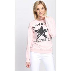 Bluzy damskie: Różowa Bluza Good Morning