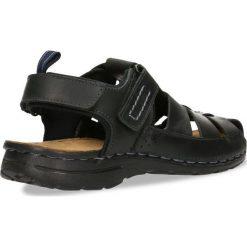 Sandały BERMEJO. Czarne sandały męskie skórzane Gino Rossi. Za 149,90 zł.