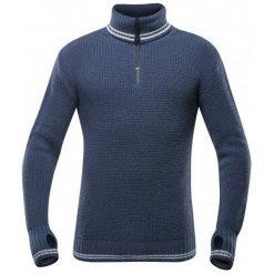 Devold Sweter Randers Zip Neck Night/Offwhite L. Niebieskie swetry klasyczne męskie marki Oakley, na lato, z bawełny, eleganckie. Za 495,00 zł.