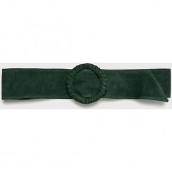 Answear - Pasek Heritage, skórzany. Szare paski damskie marki ANSWEAR, w paski, z materiału. W wyprzedaży za 48,90 zł.