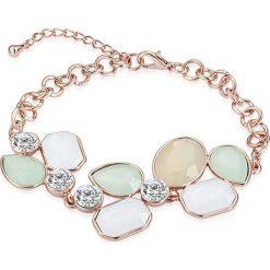 Bransoletki damskie: Pozłacana bransoletka z kryształkami Swarovskiego
