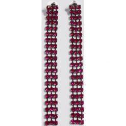 Kolczyki damskie: NA-KD Party Kolorowe wiszące kolczyki ze strassem – Pink