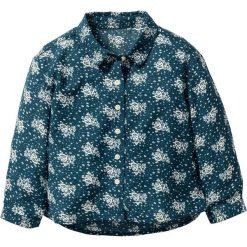Bluzki dziewczęce: Bluzka z nadrukiem bonprix niebieskozielony - kolor kości słoniowej