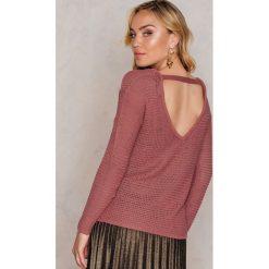 Swetry klasyczne damskie: Rut&Circle Sweter dzianinowy Hilma – Pink