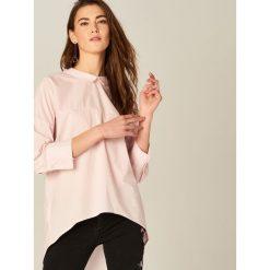 Odzież damska: Koszula z wiązaniem - Różowy