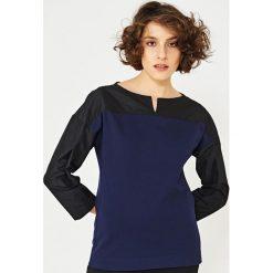 Simple - Bluzka. Niebieskie bluzki nietoperze marki BIALCON, m, w paski, młodzieżowe. W wyprzedaży za 159,90 zł.