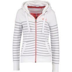 Bluzy damskie: Superdry SUN & SEA Bluza rozpinana white/90s grey