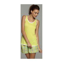 Piżama Flash 32034 -71 32037 -71X seledynowa. Szare piżamy damskie marki Esotiq, z haftami, z elastanu. Za 68,90 zł.