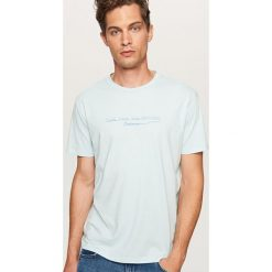 T-shirt Look over the horizon - Niebieski. Niebieskie t-shirty męskie Reserved, l. Za 39,99 zł.