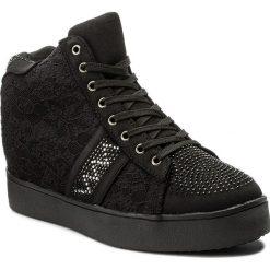 Sneakersy JENNY FAIRY - WS17003 Czarny. Czarne sneakersy damskie Jenny Fairy, z materiału. Za 119,99 zł.