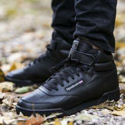 Buty Reebok Ex-O-Fit Hi (3478). Czarne buty skate męskie Reebok, z materiału. Za 279,99 zł.