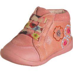 Buciki niemowlęce chłopięce: Skórzane buty w kolorze jasnoróżowym do nauki chodzenia